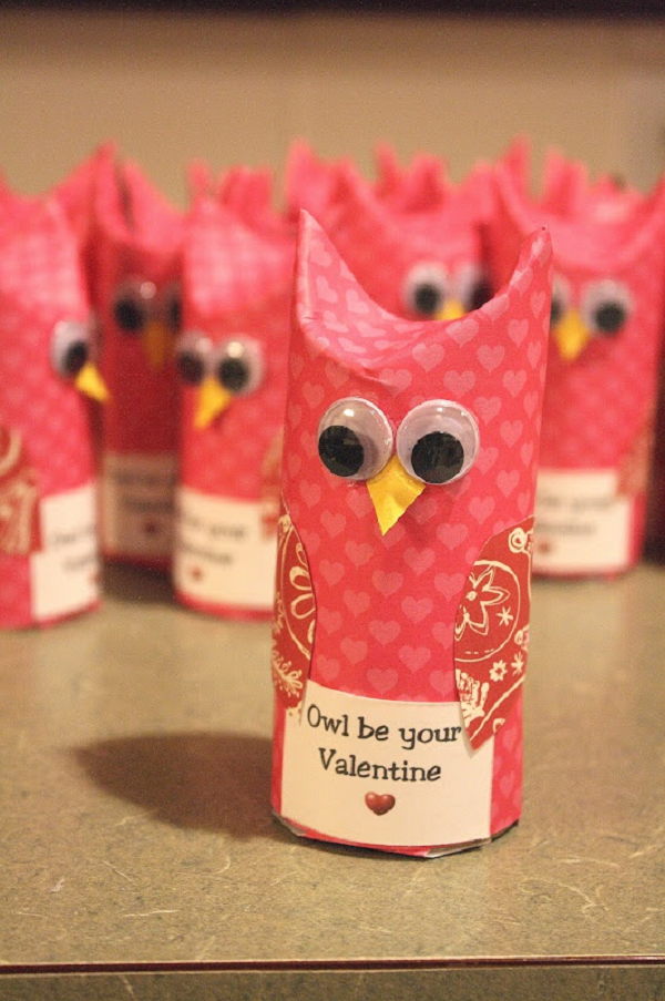 Valentine's DIY owl craft