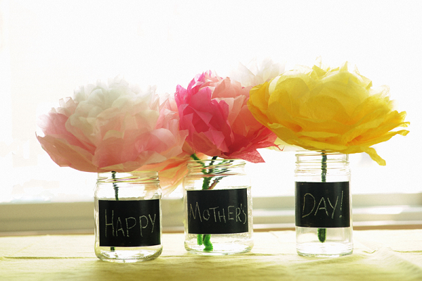 Mothers Day Chalkboard Vase Diy