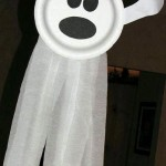 paper plate ghost - kids halloween craft