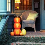 House Number Pumpkins - Easy Halloween Decor