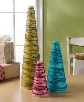 Wire Cone Christmas Trees - Fun Holiday Crafts