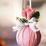 Fabric Wrapped Christmas Ornament