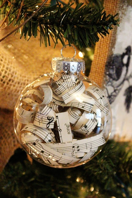 Sheet Music Christmas Ornament