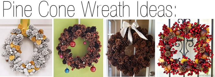 DIY Pine Cone Wreath Ideas via FunHolidayCrafts