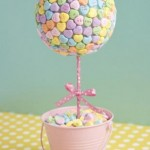 DIY Candy Heart Topiary