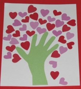 Hand Heart Tree Valentine S Day Crafts For Kids