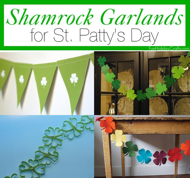 Shamrock garlands for St Patty's day