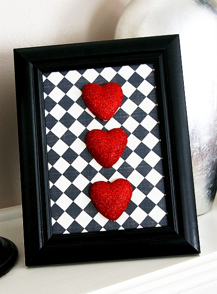 framed foam hearts for valentine's day