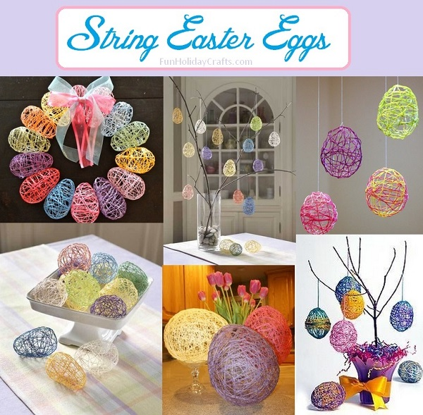 DIY String Easter Egg Crafts