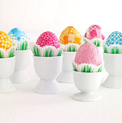 Patterened Washi Tape Easter Eggs