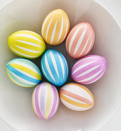 Striped Washi Tape Easter Eggs