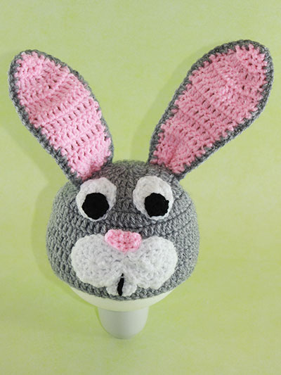 Crochet Bunny Hat With Flower Pattern : DIY Crochet Bunny Hat for Kids