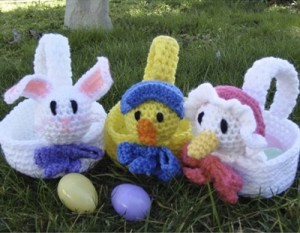crochet easter baskets