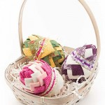 No-Sew Fabric Spring Easter Eggs