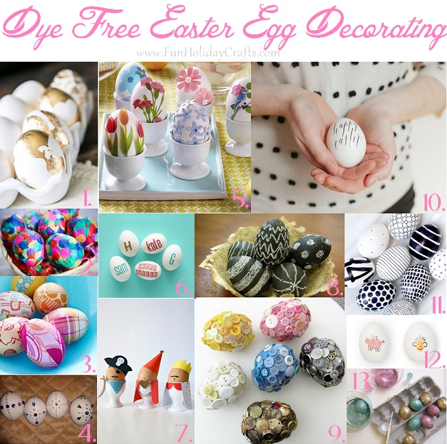 Dye Free Easter Egg Decorating Ideas