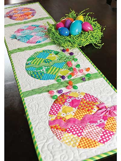 pattern table quilt table runner easter quilt runner