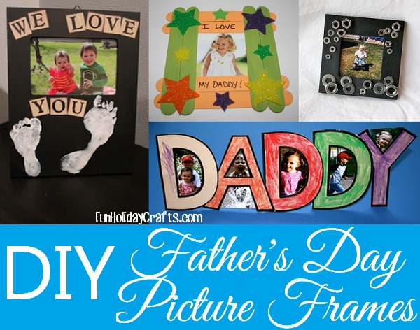 Easy DIY Picture Frames for Dad