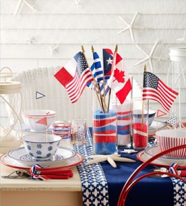 patriotic sand centerpiece