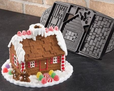 Cast Iron Gingerbread House Mold